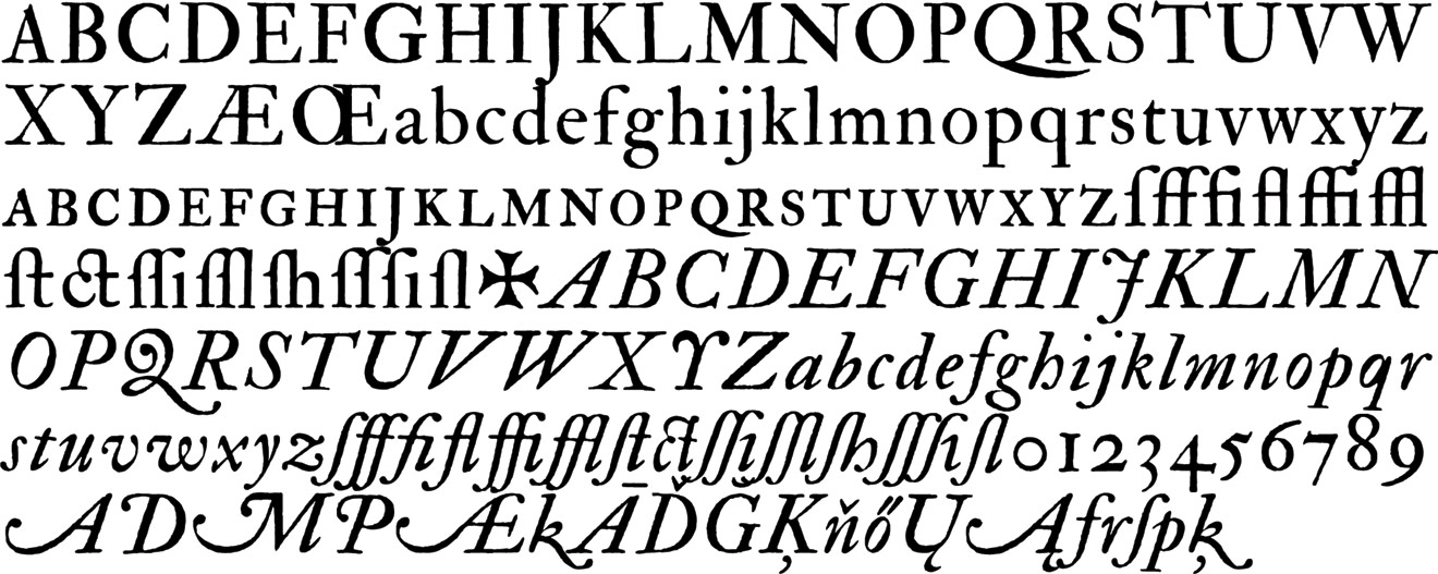 types of letters the fell types modern revival fonts realized by igino 1692