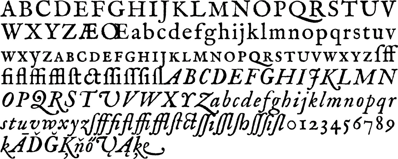 The Fell Types modern revival fonts realized by Igino Marini